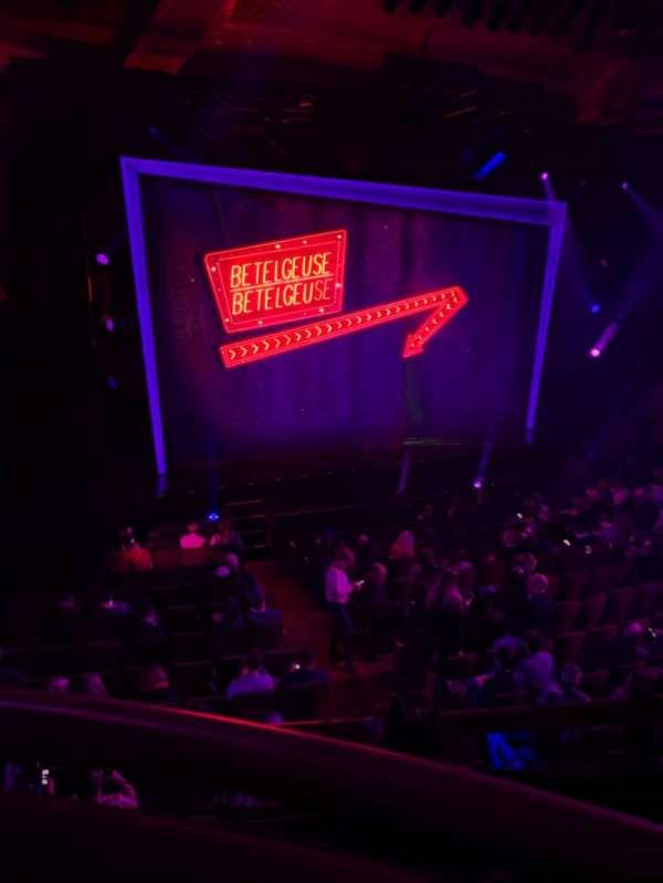 Winter Garden Theatre, secção: Mezz, fila: A, lugar: 121