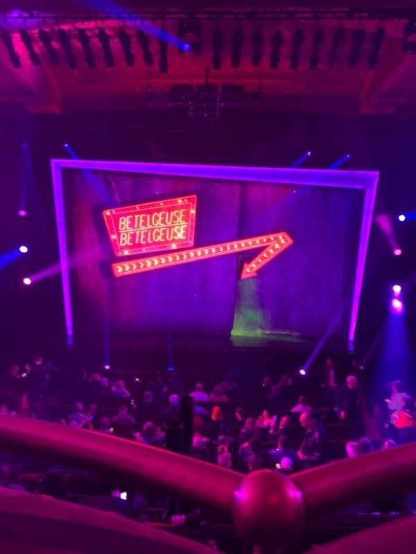 Winter Garden Theatre, secção: Mezzanine RC, fila: A, lugar: 114