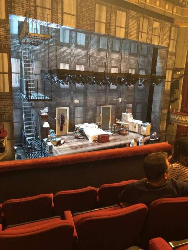Broadhurst Theatre, secção: Mezzanine L, fila: D, lugar: 17