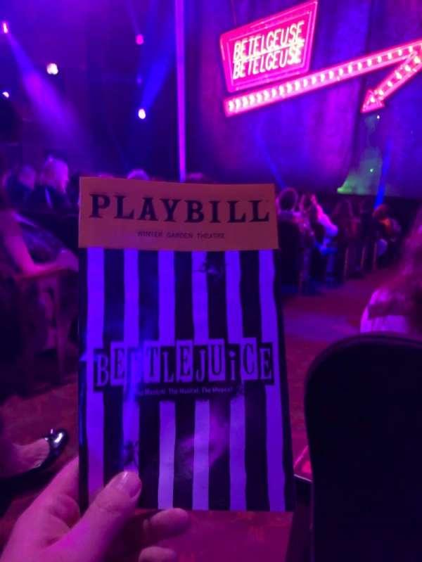 Winter Garden Theatre, secção: Orchestra R, fila: N, lugar: 2