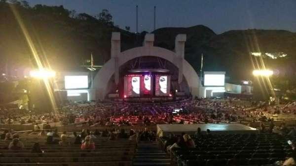 Hollywood Bowl, secção: J1, fila: 22, lugar: 1