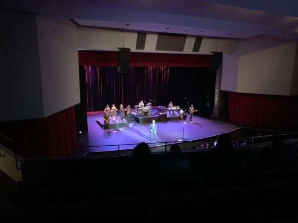 Downey Theatre, secção: Balcony Left, fila: FF, lugar: 1