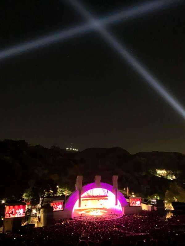 Hollywood Bowl, secção: U1, fila: 15, lugar: 26