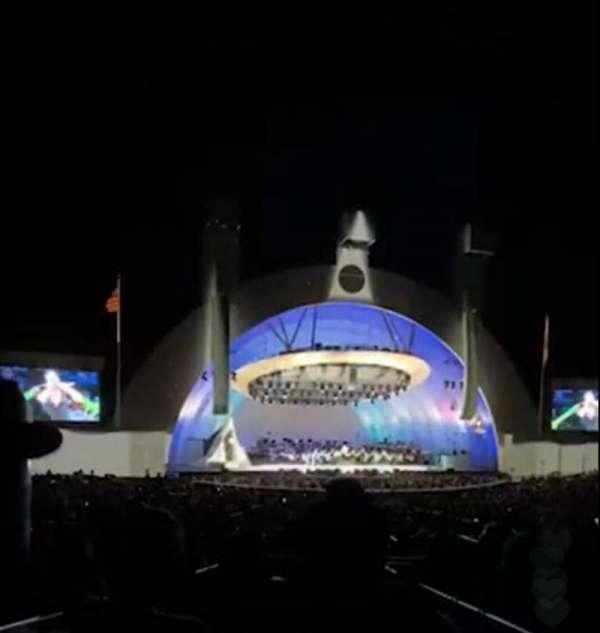 Hollywood Bowl, secção: Terrace 5, fila: 1651, lugar: 4