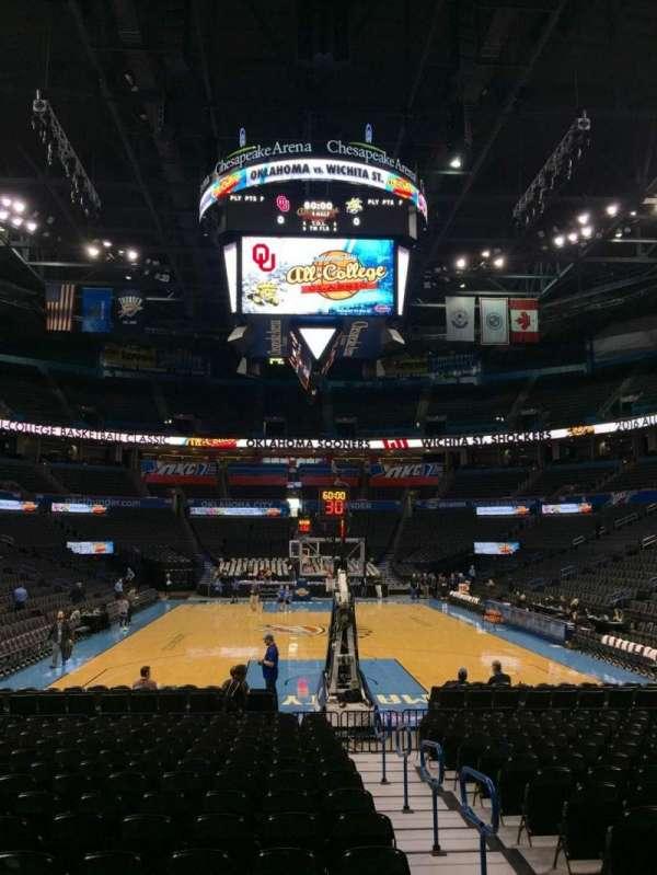 Chesapeake Energy Arena, secção: 101, fila: RR, lugar: 2