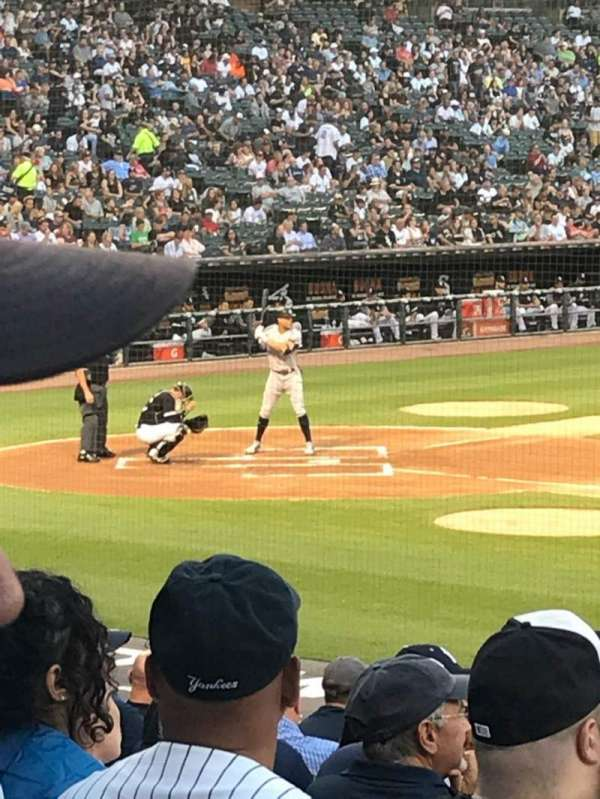 Guaranteed Rate Field, secção: 123, fila: 18, lugar: 8