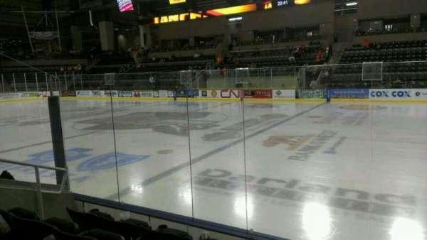 Ralston Arena, secção: 113, fila: D, lugar: 13