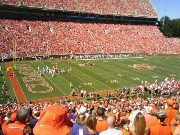 Memorial Stadium, Clemson, secção: ui, fila: E, lugar:  20