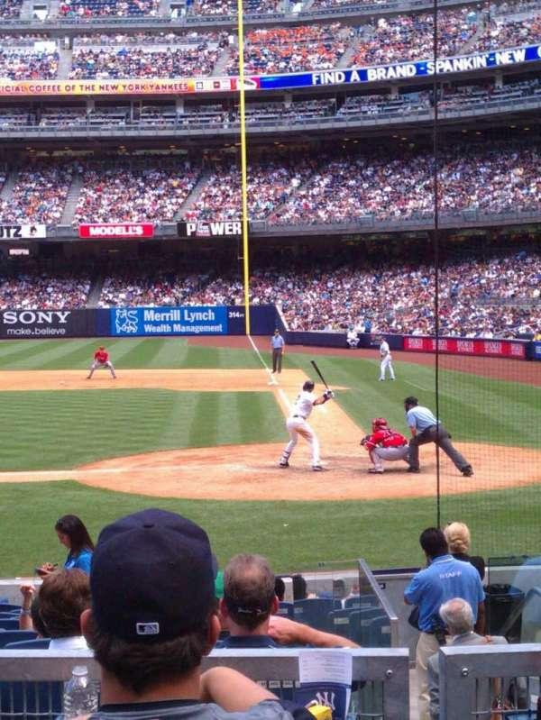 Yankee Stadium, secção: 122, fila: 15, lugar: 7