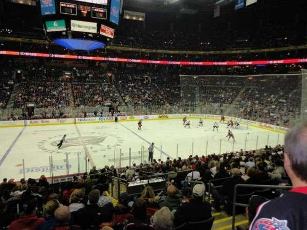 Nationwide Arena, secção: 115, fila: S, lugar: 8