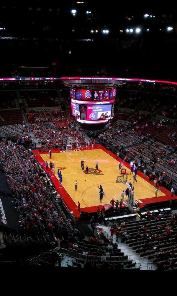 Value City Arena, secção: 333, fila: N, lugar: 10