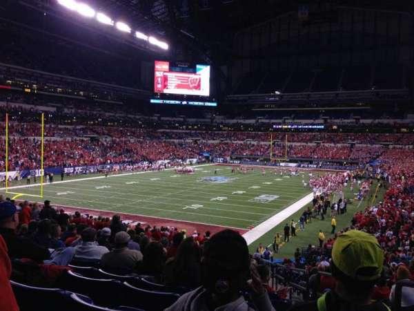 Lucas Oil Stadium, secção: 151, fila: 31, lugar: 2