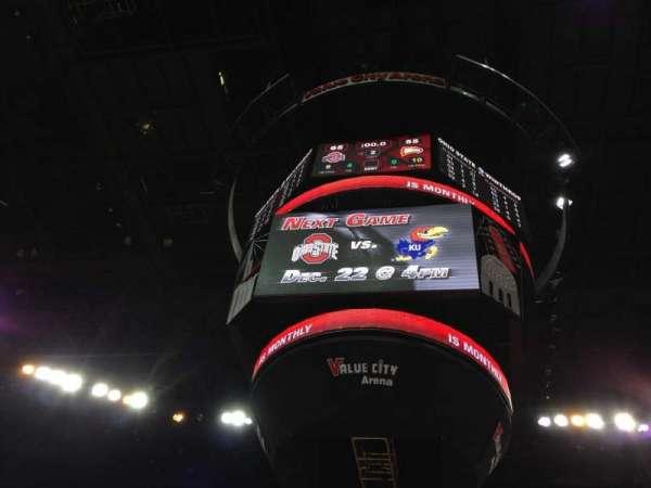 Value City Arena, secção: 105, fila: B, lugar: 19