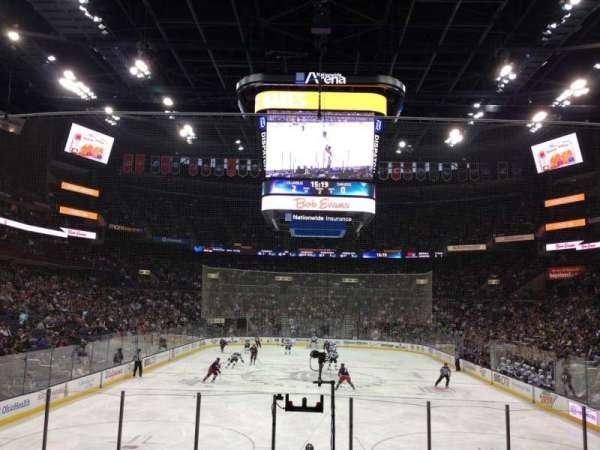 Nationwide Arena, secção: 109, fila: P, lugar: 9