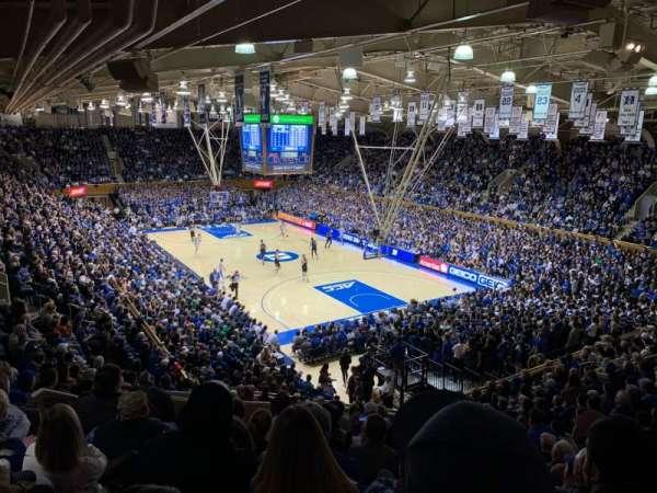 Cameron Indoor Stadium, secção: 9, fila: O, lugar: 11