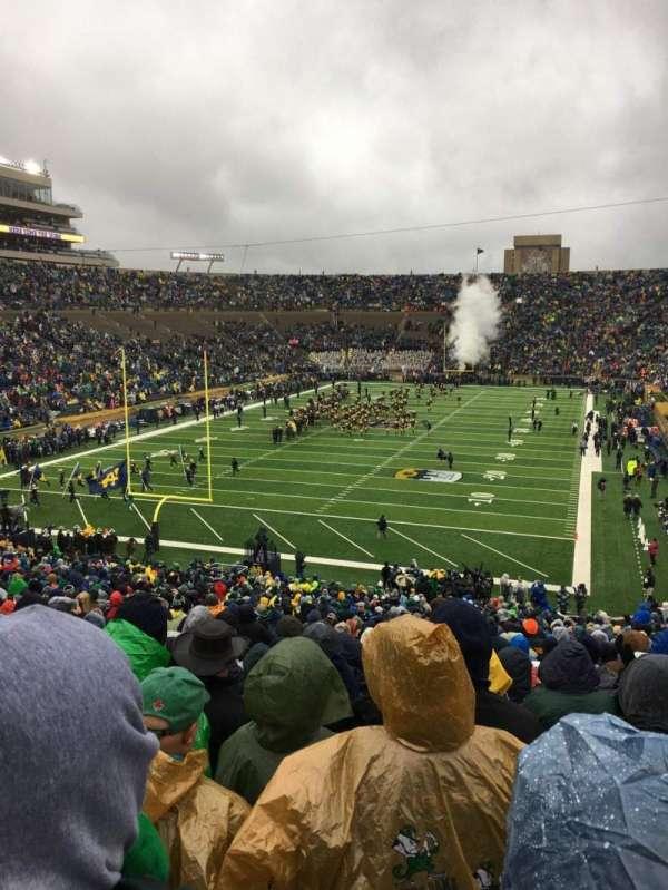 Notre Dame Stadium, secção: 17, fila: 56, lugar: 32