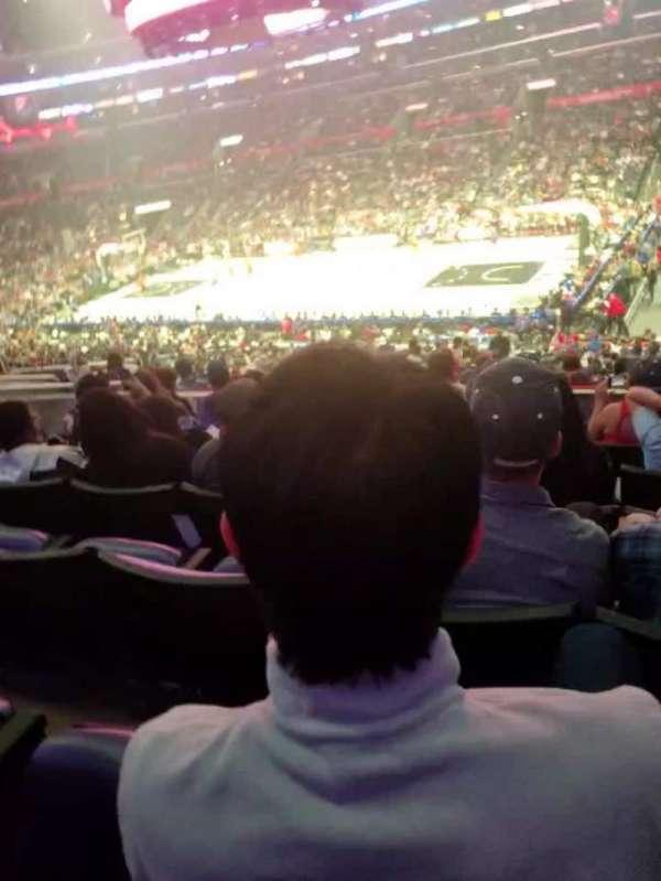 Staples Center, secção: PR12, fila: 7, lugar: 6