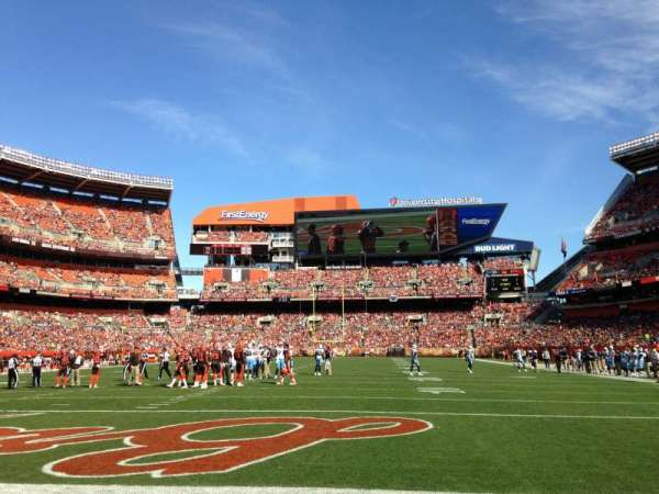 FirstEnergy Stadium, secção: 148, fila: A, lugar: 7