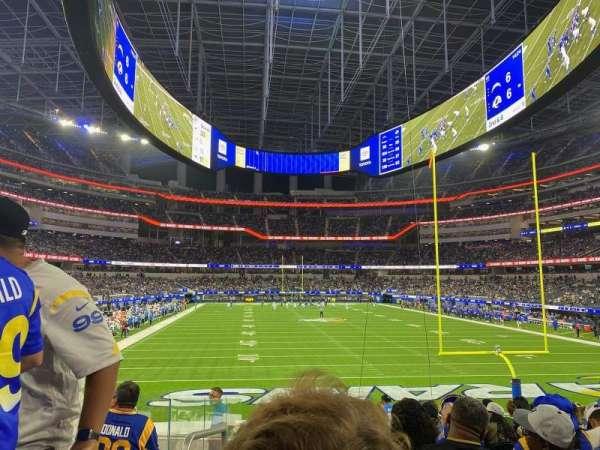 SoFi Stadium, secção: 121, fila: 13, lugar: 25