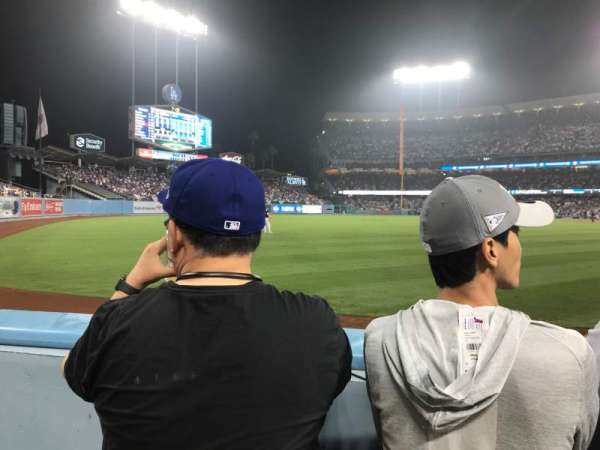 Dodger Stadium, secção: 49FD, fila: A, lugar: 13