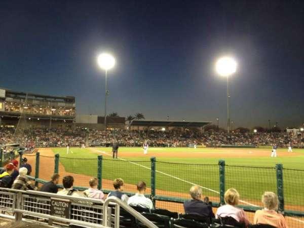 Goodyear Ballpark, secção: 122, fila: G, lugar: 4
