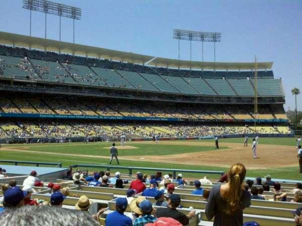 Dodger Stadium, secção: 28FD, fila: G, lugar: 8