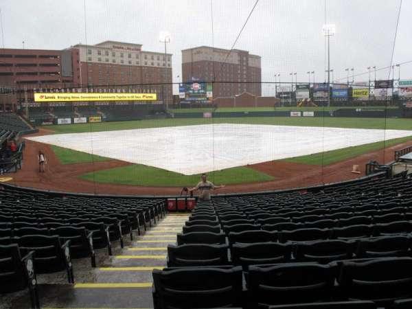 Chickasaw Bricktown Ballpark, secção: 111, fila: D, lugar: 9
