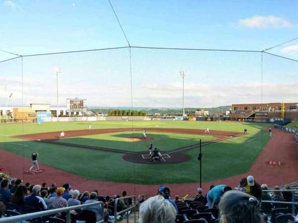 Monongalia County Ballpark, secção: 105, fila: N, lugar: 1