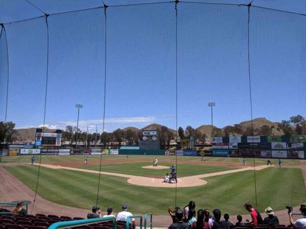 Lake Elsinore Diamond, secção: 101, fila: K, lugar: 12