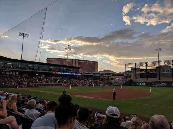 Las Vegas Ballpark, secção: 105, fila: L, lugar: 22