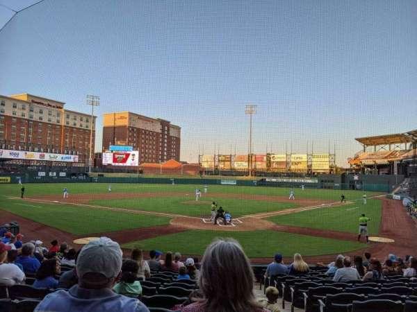 Chickasaw Bricktown Ballpark, secção: 109, fila: Q, lugar: 1