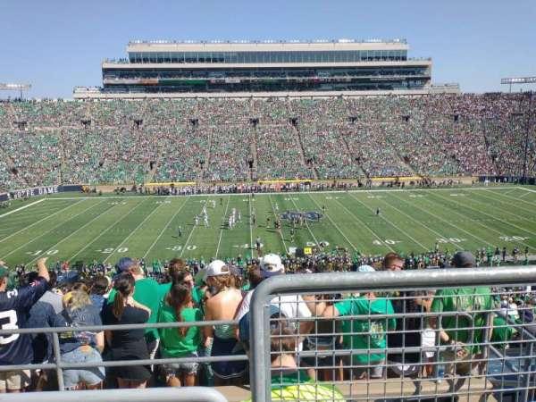 Notre Dame Stadium, secção: 129, fila: 5, lugar: 1