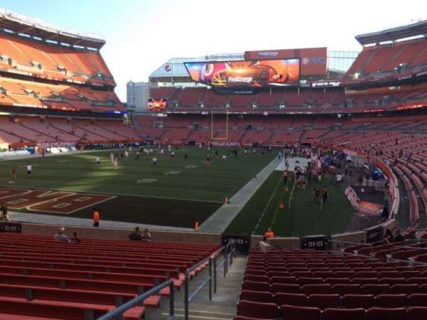 FirstEnergy Stadium, secção: 124, fila: WC, lugar: 1
