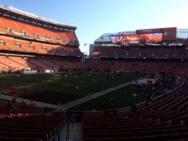 FirstEnergy Stadium, secção: 125, fila: 18