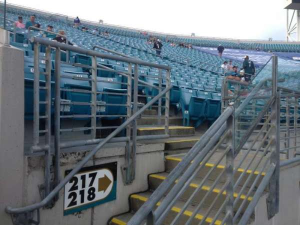 TIAA Bank Field, secção: 217, fila: A, lugar: 1