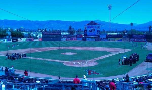 San Manuel Stadium, secção: 203, fila: m, lugar: 1
