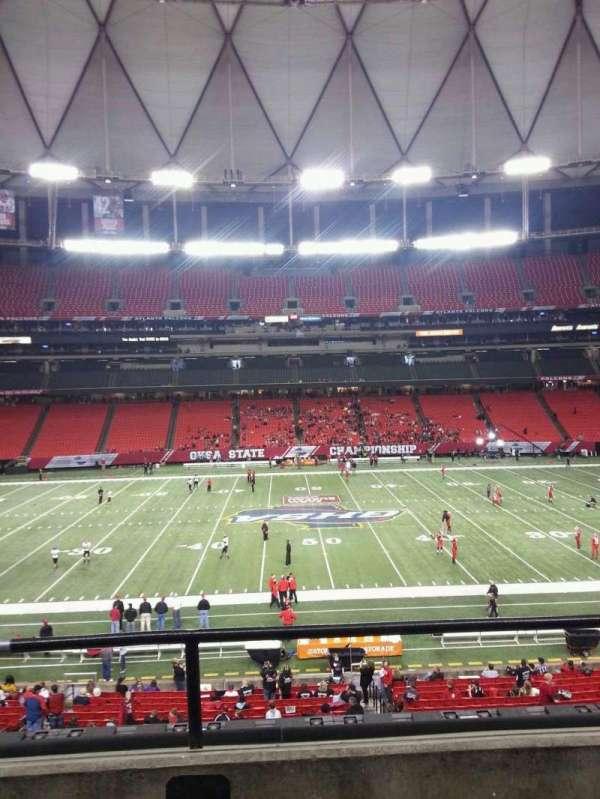 Georgia Dome, secção: 247, fila: 2, lugar: 16