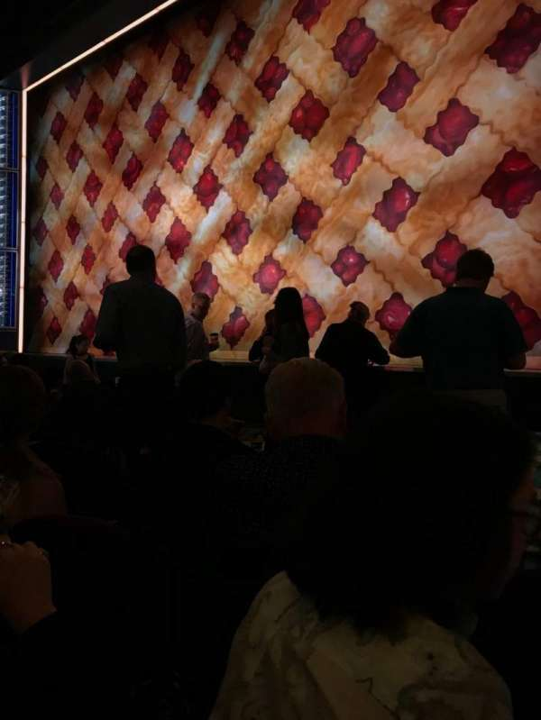 Brooks Atkinson Theatre, secção: Orchestra R, fila: E, lugar: 12