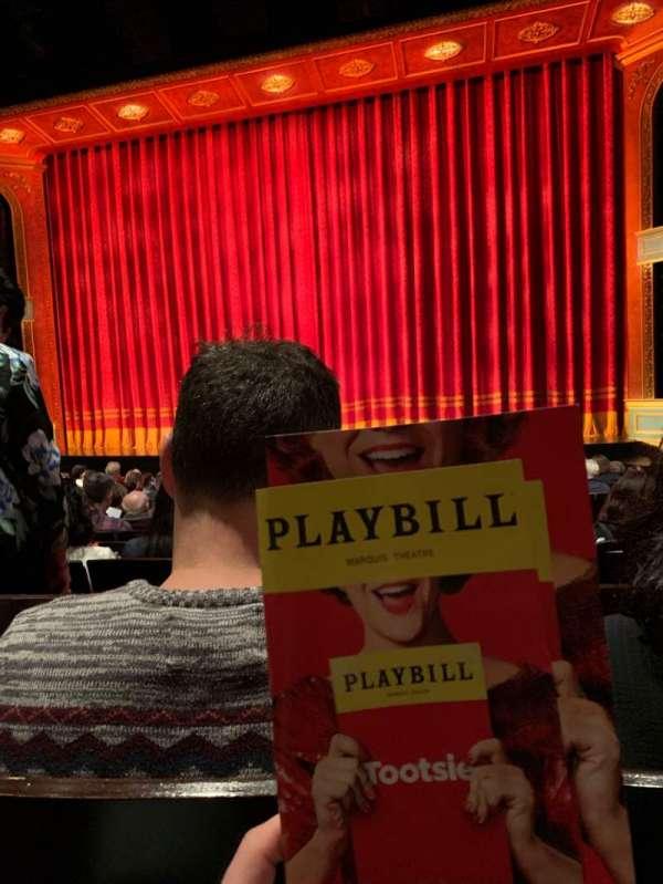 Marquis Theatre, secção: Orchestra C, fila: M, lugar: 120
