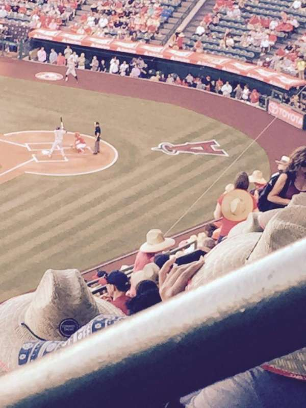 Angel Stadium, secção: 509, fila: N, lugar: 18