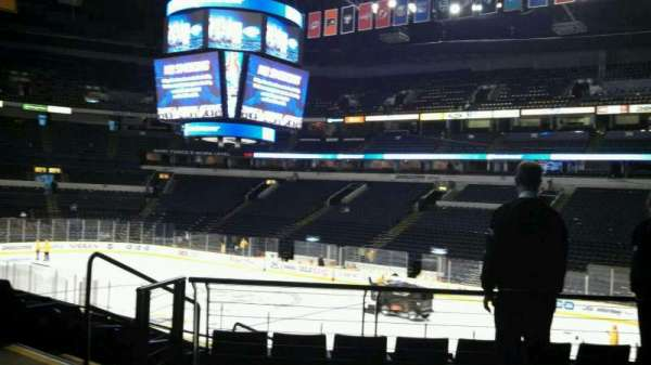 Bridgestone Arena, secção: 108, fila: H, lugar: 22