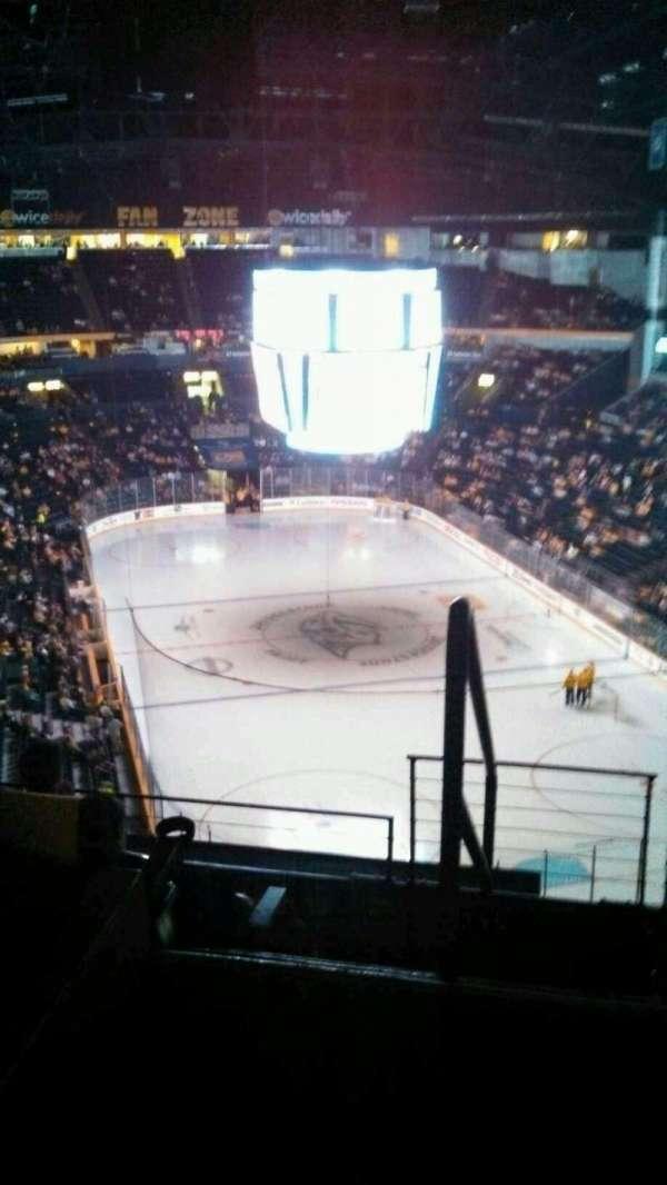 Bridgestone Arena, secção: 313, fila: G, lugar: 21