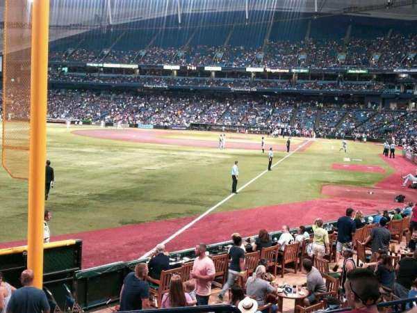 Tropicana Field, secção: 137, fila: U, lugar: 1 and 2