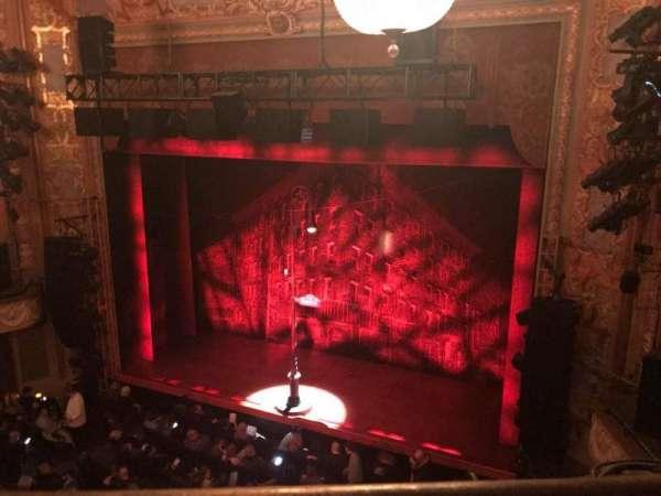 Longacre Theatre, secção: Balcony R, fila: A, lugar: 5