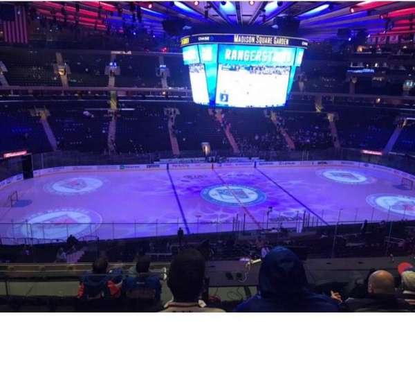 Madison Square Garden, secção: 223, fila: 7, lugar: 7