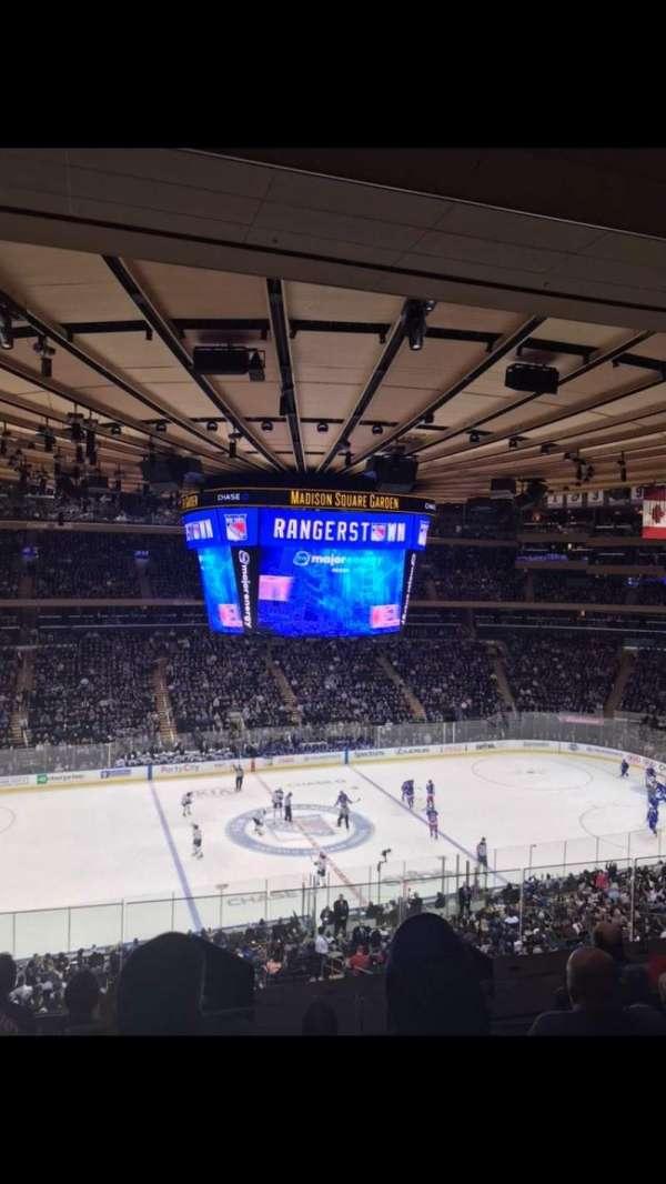 Madison Square Garden, secção: 223, fila: 7, lugar: 8