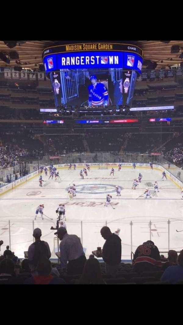 Madison Square Garden, secção: 112, fila: 21, lugar: 19