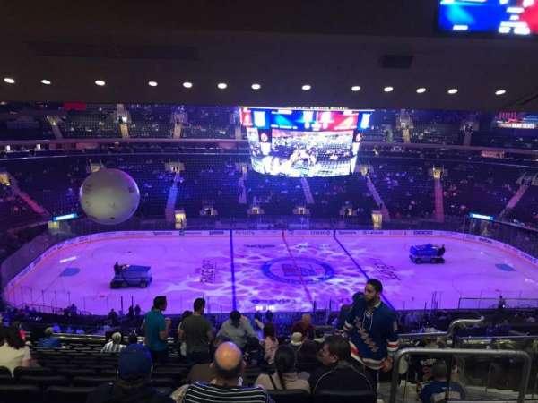Madison Square Garden, secção: 210, fila: 15, lugar: 17