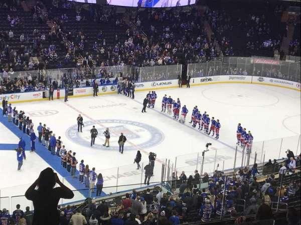 Madison Square Garden, secção: 222, fila: 9, lugar: 6