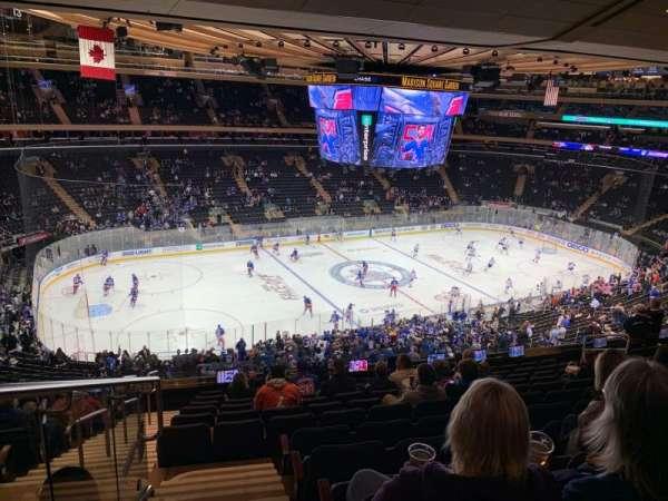 Madison Square Garden, secção: 209, fila: 12, lugar: 2